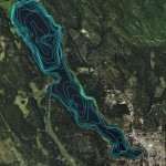 Seeley Lake - Bathymetry Data in Google Earth